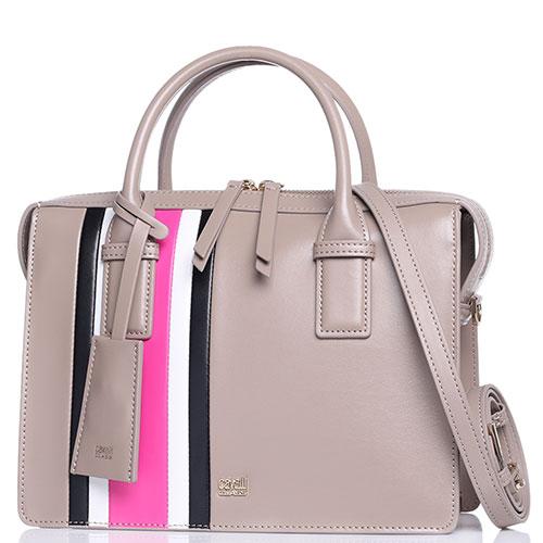 Женская сумка Cavalli Class Phoebe бежевого цвета, фото