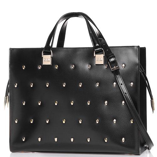 Деловая сумка Cavalli Class Yaara в черном цвете, фото
