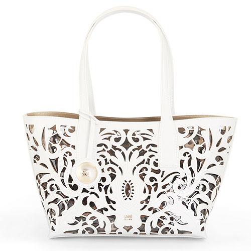 Белая сумка Cavalli Class Brigitte с узорами, фото
