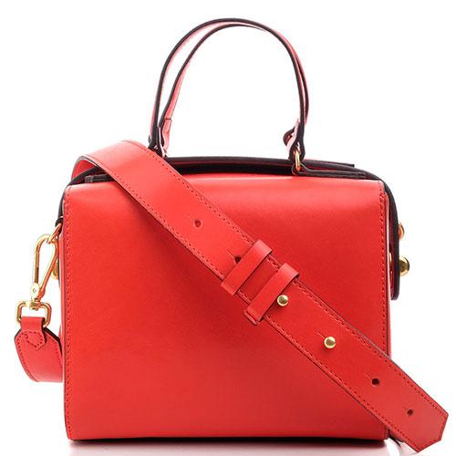 Женская деловая сумка Coccinelle красного цвета, фото