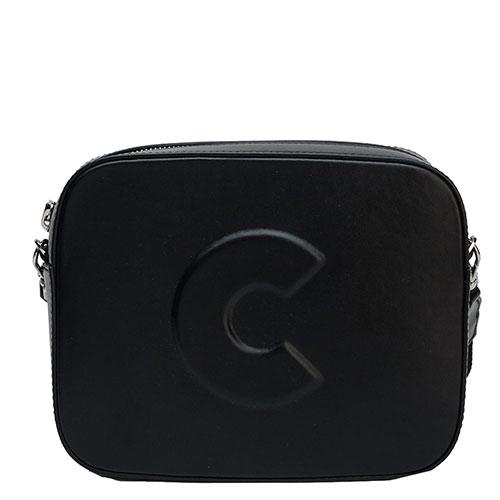Черная сумка Coccinelle с логотипом, фото