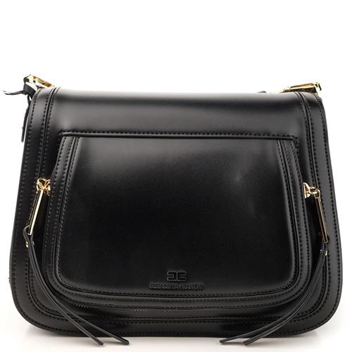 Черная сумка Elisabetta Franchi на широком ремне, фото