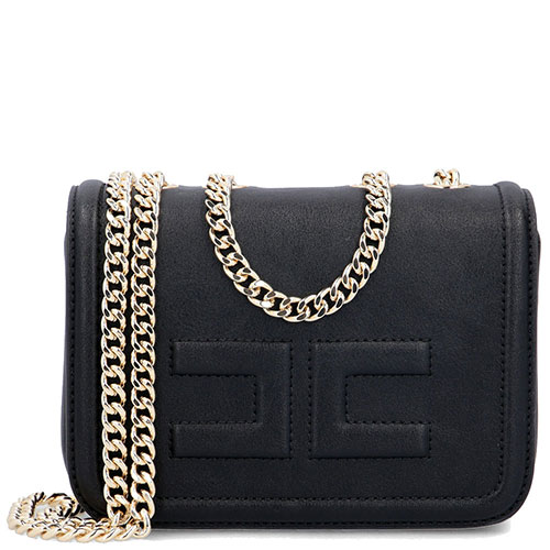 Черная мини-сумка Elisabetta Franchi на цепочке, фото