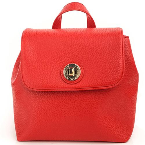 Красный рюкзак Emporio Armani из зернистой кожи, фото