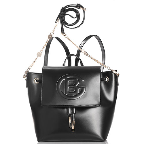 Сумка-рюкзак Baldinini Camilla черного цвета с клапаном, фото