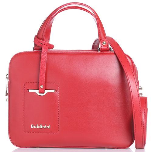 Красная сумка Baldinini Jasmine со съемным брелком, фото