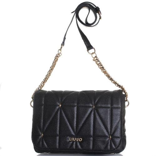 Стеганая сумка Liu Jo из черной кожи, фото