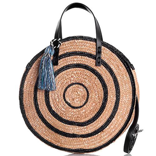144be02faa5f ☆ Пляжная сумка Rebecca Minkoff круглой формы с кисточкой ...