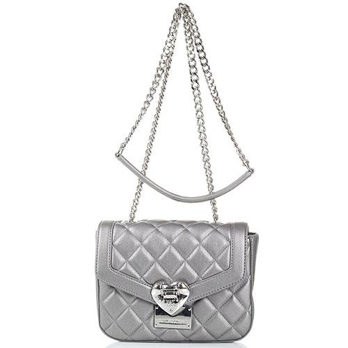 6a644009e745 серебристая стеганая сумка Love Moschino Jc4206 Pp0 Ka0 902