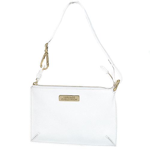 e79f927985f8 Клатч-рислет Versace Collection кожаный белый с маленьким ремешком