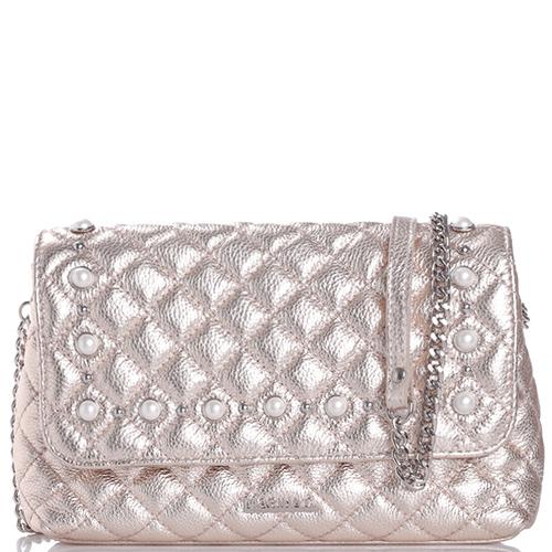Стеганая сумка Marina Creazion золотистого цвета, фото