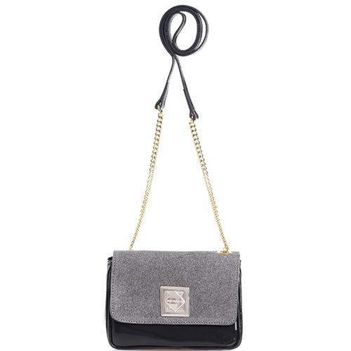 Лаковая сумка Di Gregorio с ручкой-цепочкой, фото