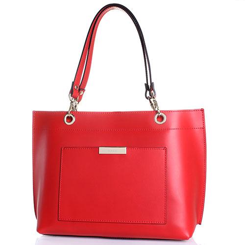 Сумка-шопер Ripani Positano красного цвета, фото