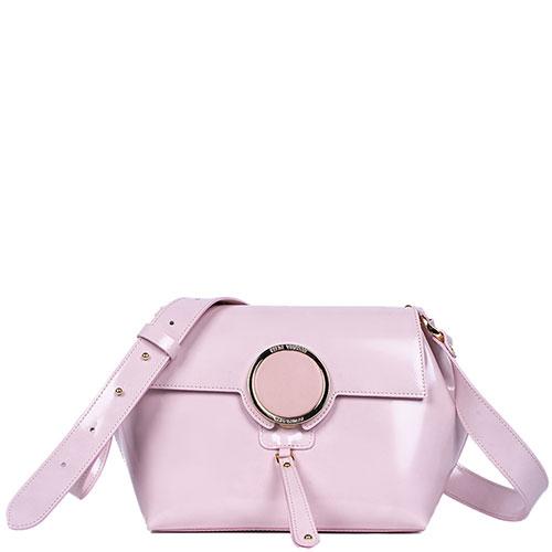 Розовая сумка Gilda Tonelli с металлическим декором, фото