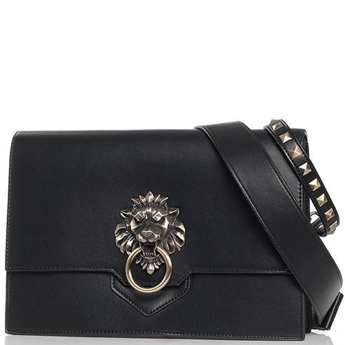 Черная сумка Tosca Blu Lady Danger на широком ремне, фото