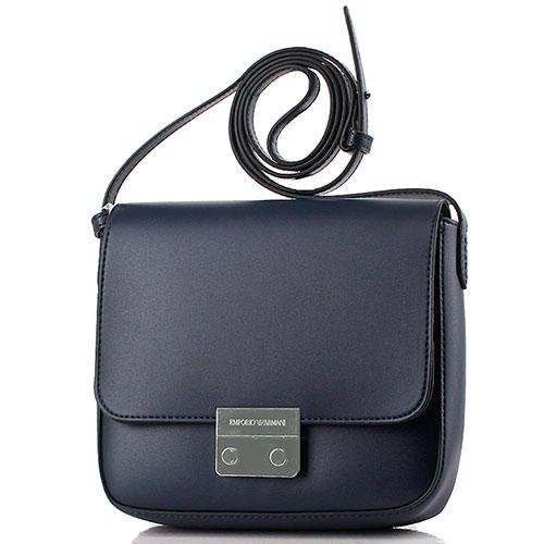f47a4ec000c9 ☆ Маленькая сумка Emporio Armani из гладкой кожи синего цвета ...