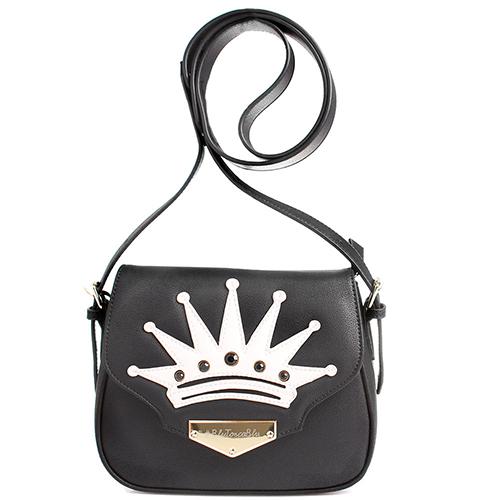 Черная сумка Tosca Blu с аппликацией в форме короны, фото
