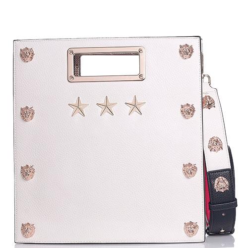 Прямоугольная сумка Tosca Blu с золотистым декором, фото