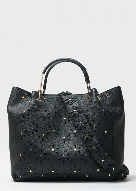 60d2734af274 ☆ Большая сумка Tosca Blu Monet с резным цветочным узором купить в ...