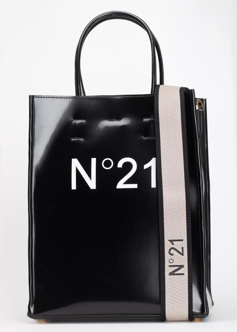 Сумка-шоппер N21 черного цвета