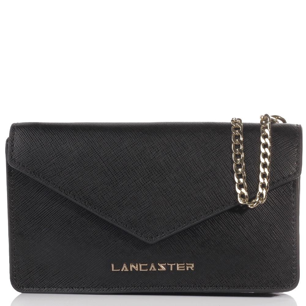 Черная сумка Lancaster Saffiano Signature из фактурной кожи