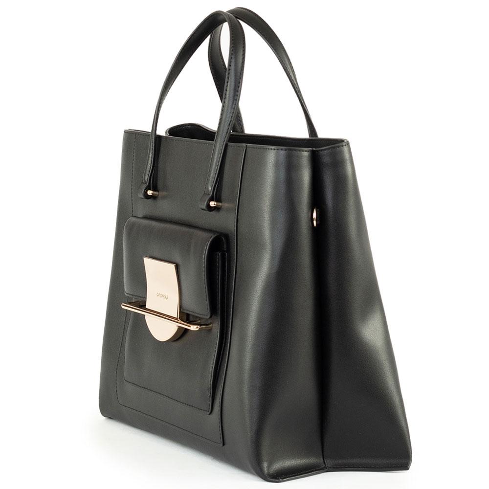 Черная сумка Cromia Romy с металлическим декором