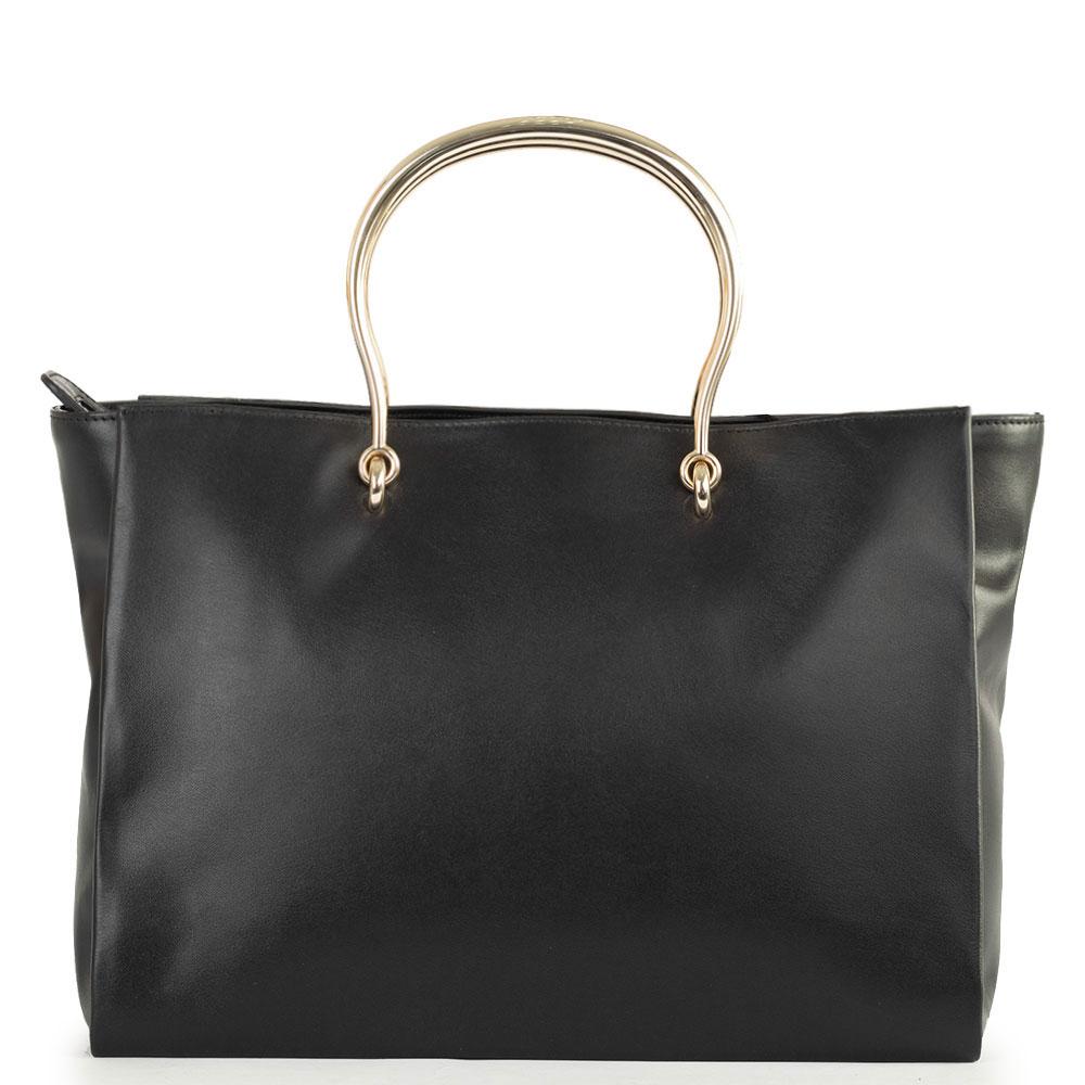 Черная сумка-тоут Blumarine Cécile с розой