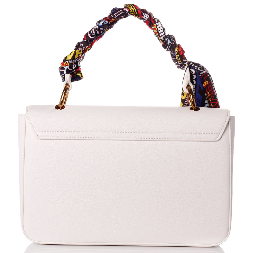 Белая сумка Love Moschino с платком