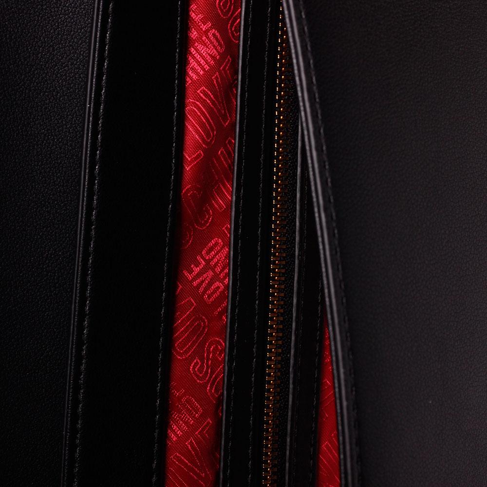 Черная сумка Love Moschino с декором в виде платка