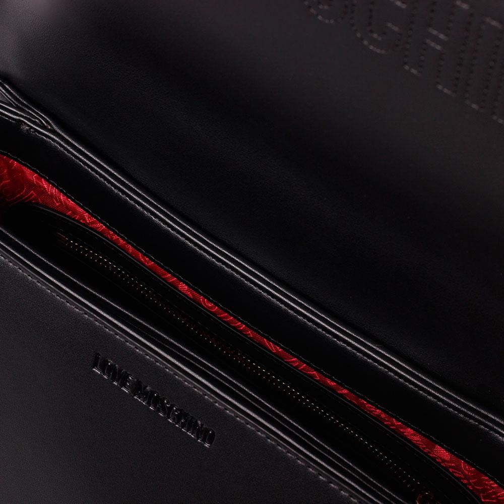 Черная сумка Love Moschino с декором-заклепками
