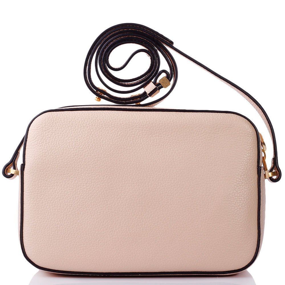 Женская сумка Coccinelle пудрового цвета