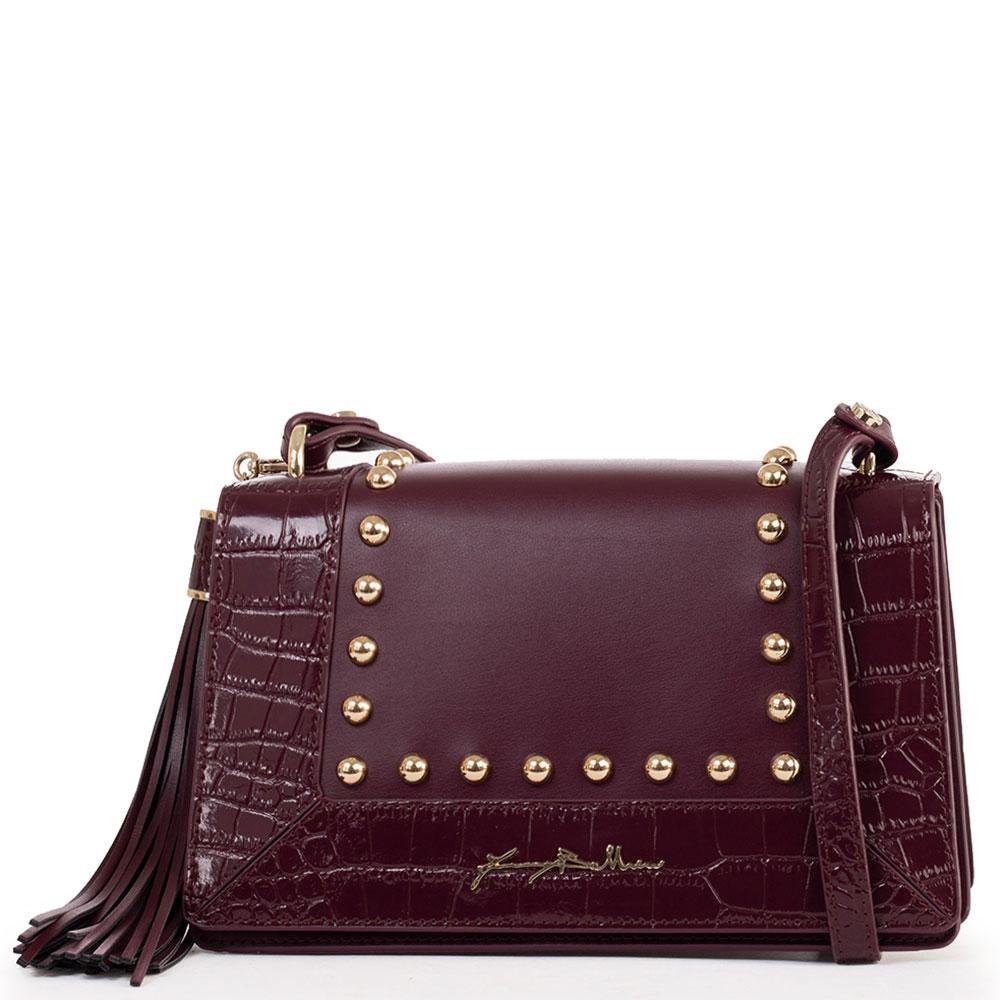 Бордовая сумка Baldinini Alma из комбинированной кожи