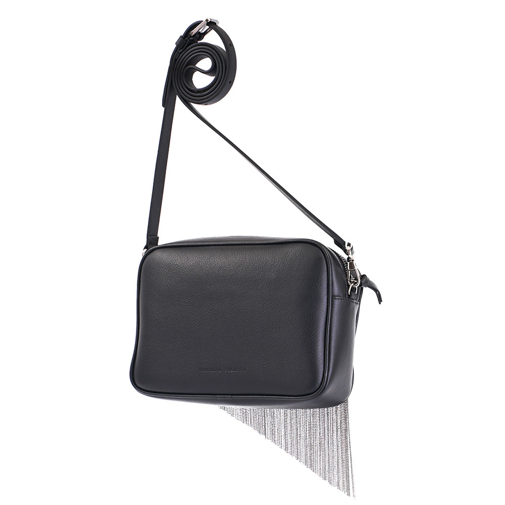 Сумка Fabiana Filippi черного цвета с бахромой