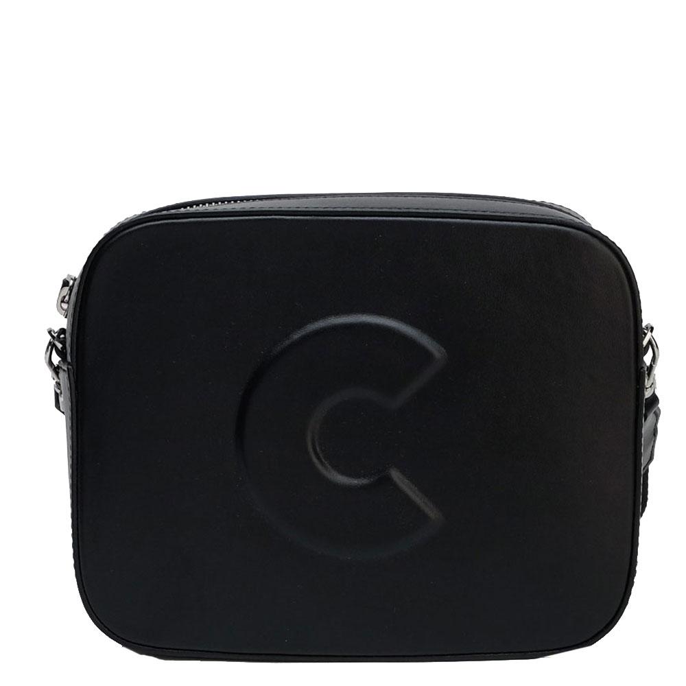 Черная сумка Coccinelle с логотипом
