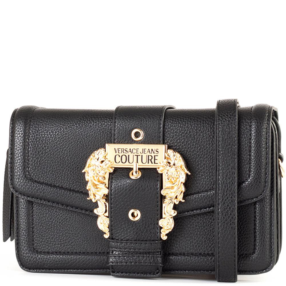 Черная сумка Versace Jeans Couture с золотистой фурнитурой
