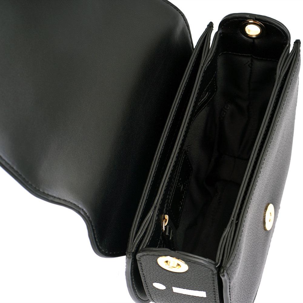 Черная сумка Baldinini Aida из мелкозернистой кожи