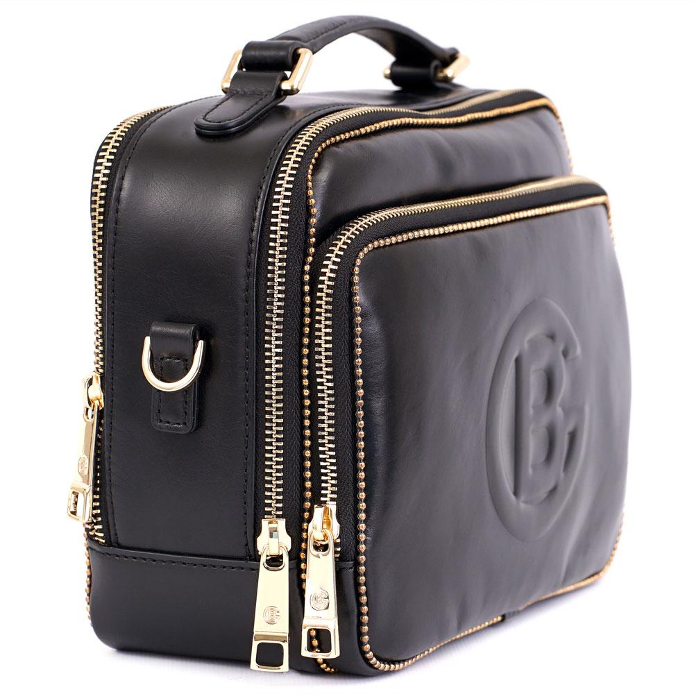 Черная сумка Baldinini Ellen из полированной кожи