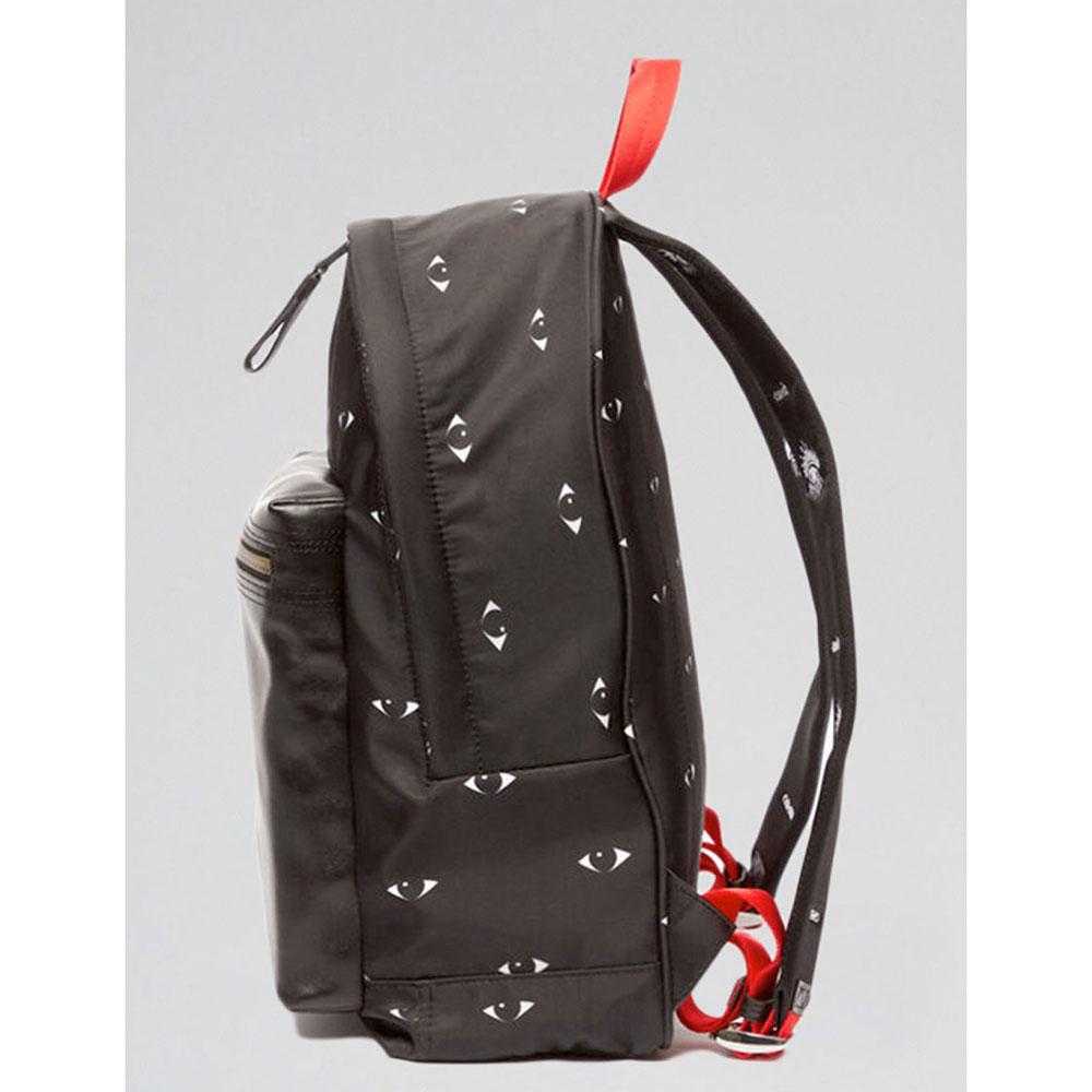 Черный рюкзак Kenzo с принтом в виде глаз