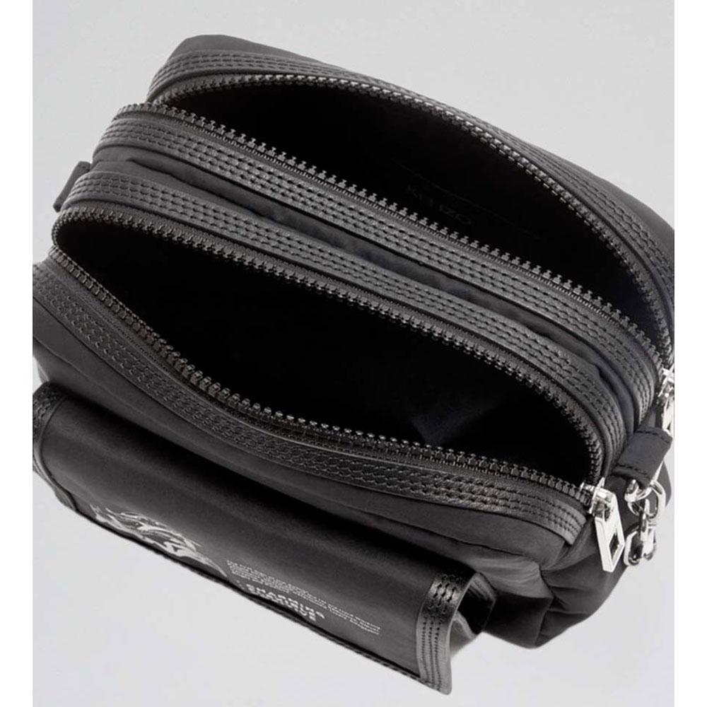 Черная сумка Kenzo на широком ремне