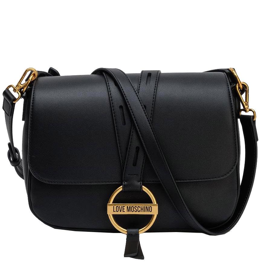 Черная прямоугольна сумка Love Moschino