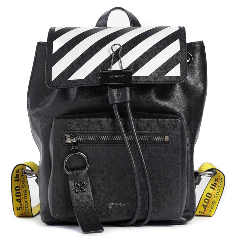 Черный рюкзак Off-White с принтом