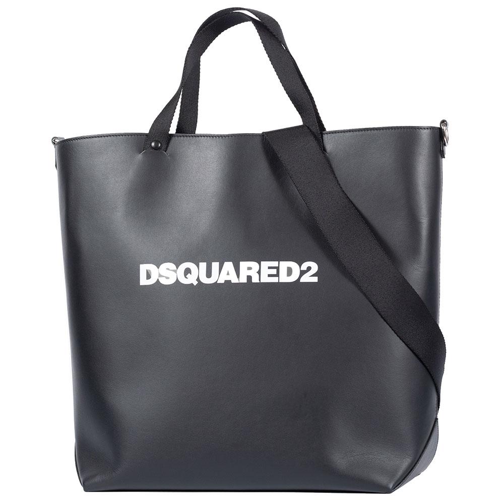 Черная сумка-тоут Dsquared2 с дополнительным ремнем