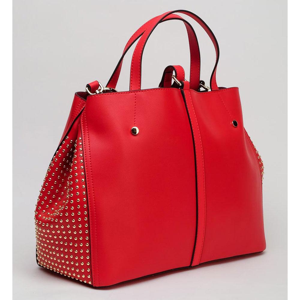 Красная сумка Tosca Blu Girasole с заклепками