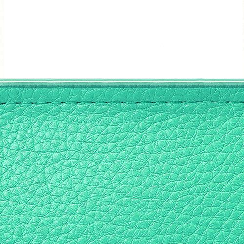 Зеленая сумка из зернистой кожи Fidelitti Chemire среднего размера, фото