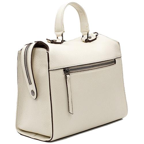 Белая сумка Tony Bellucci из зернистой кожи, фото