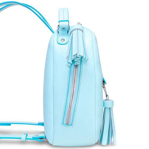 Городской рюкзак Fidelitti Zaino мятного цвета с кисточками, фото