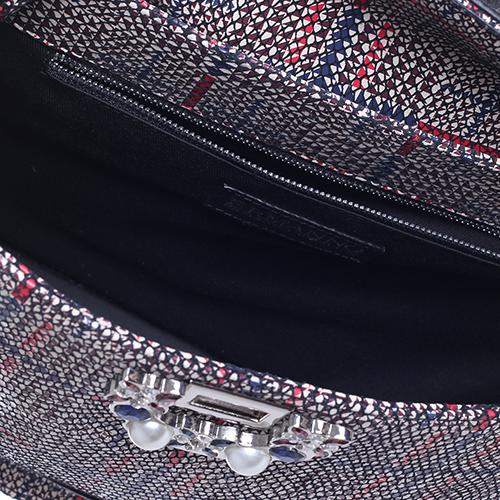 Сумка Ermanno Scervino Diamante Tartan с декором из камней и бусин , фото