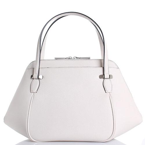 Бежевая сумка Cromia Perla из кожи с тиснением Сафьяно, фото