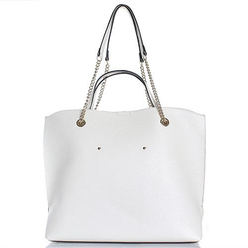 Бежевая сумка Cromia Corinna из крупнозернистой кожи, фото