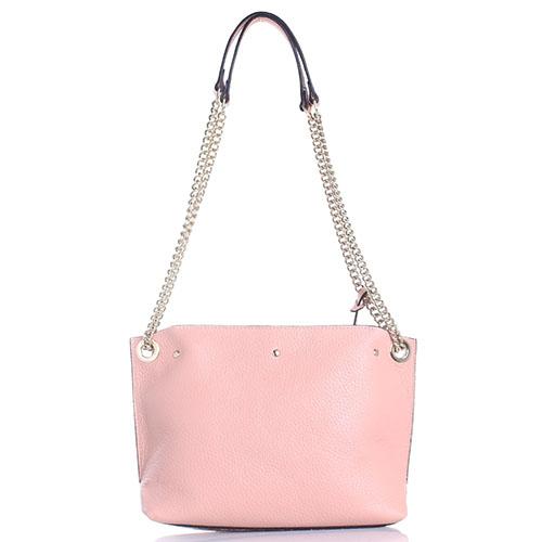 Розовая сумка Cromia Corinna из крупнозернистой кожи, фото